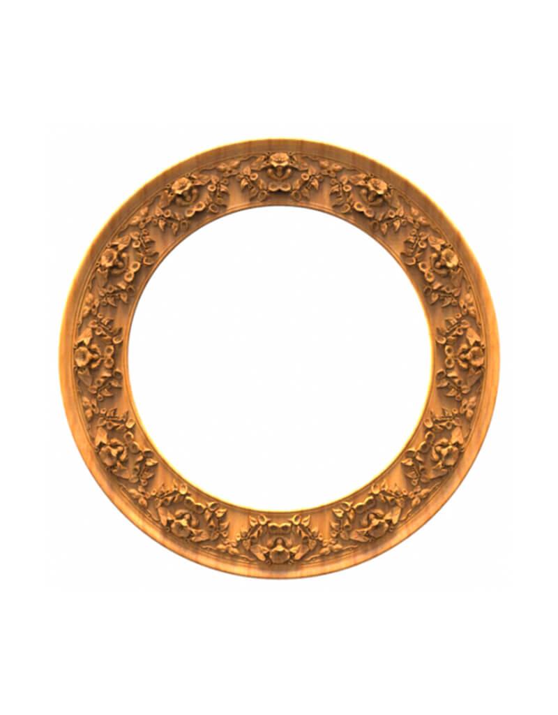 Эксклюзивная рамка 3Д, круглой формы