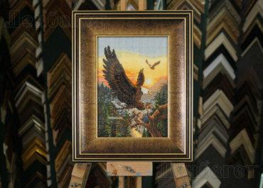 Полет орла. Вышивка крестом