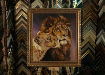 Лев и львица. Алмазная мозаика