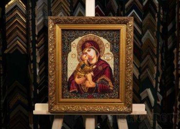 Богородица Донская. Вышивка