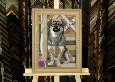 Собака Лола. Вышивка