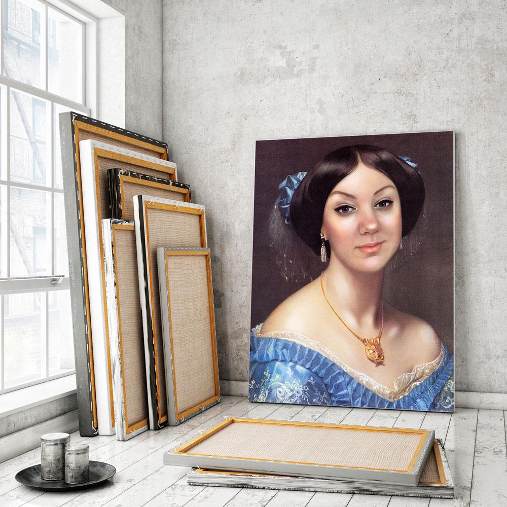 Портрет в образе по фото на холсте