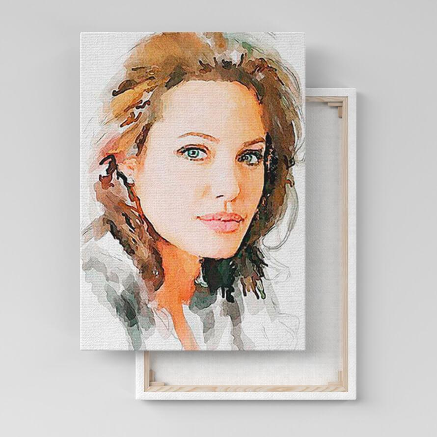 Портрет по фото в стиле Акварель