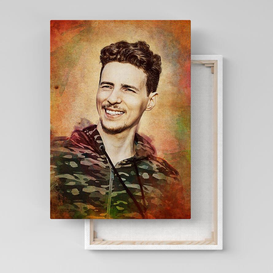 Портрет по фото в стиле Гранж